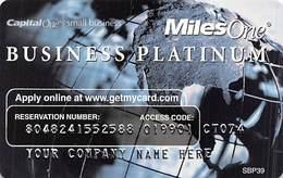 CapitalOne MilesOne Business Platinum Sample Card (blank Reverse) With SBP39 - Cartes De Crédit (expiration Min. 10 Ans)