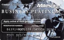 CapitalOne MilesOne Business Platinum Sample Card (blank Reverse) With 04PL000120 - Cartes De Crédit (expiration Min. 10 Ans)