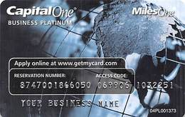 CapitalOne MilesOne Business Platinum Sample Card (blank Reverse) With 04PL001373 - Credit Cards (Exp. Date Min. 10 Years)