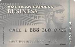 American Expreess Business Platinum Sample Card (blank Reverse) - Cartes De Crédit (expiration Min. 10 Ans)