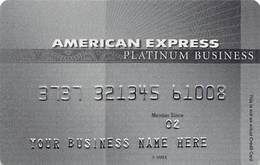 American Expreess Business Platinum Sample Card (blank Reverse) - Credit Cards (Exp. Date Min. 10 Years)