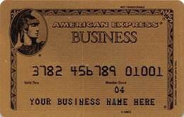 American Expreess Business Sample Card (blank Reverse) - Krediet Kaarten (vervaldatum Min. 10 Jaar)