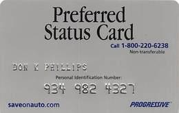 Progressive Insurance Preferred Status Card - Other Collections