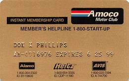 Amaco Motor Club Temporary / Instant Membership Card AC-8191 - Other