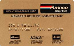 Amaco Motor Club Temporary / Instant Membership Card AC-10464 - Other