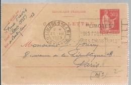 CARTE-LETTRE  1934  PARIS-GARE MONTPARNASSE - Enteros Postales