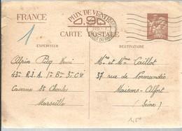 CARTE-LETTRE  1941 MARSEILLE  -- GARE - Enteros Postales