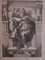 Gravure  1869  La Syblle De Delphes MICHEL-ANGE - Alte Papiere