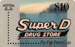 Super D Drug Store / Teltrust Prepaid Phone Card - Advertising