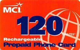 MCI 120 Minutes Rechargeable Prepaid Phone Card - United States