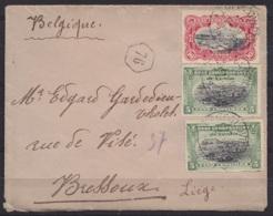 Congo - L. Affr. N°17+22+16x3 Càd LEOPOLDVILLE /? OCT 1903 Pour BRESSOUX (au Dos: Càd Arrivée LIEGE) - Congo Belge