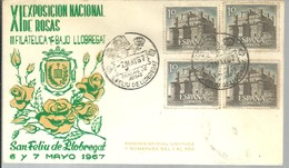 POSTMARKET ESPAÑA 1967 - Rosas