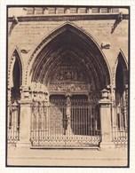 LEON  Cathédrale Porte De La SENORA LA BLANCA ESPAGNE 1929  Photo Amateur Format Environ 7,5 X 5,5 Cm - Lugares