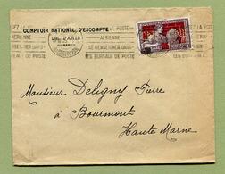 """Perforé : """" COMPTOIR NATIONAL D'ESCOMPTE """"  1925 Pour BOURMONT - Perforés"""