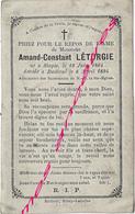 En 1894-Staple Et Bailleul (59) Amand LETURGIE - Décès