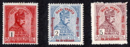 HUN SC #B49-51 MNH 1915 S-P/Franz Josef I W/surchg CV $13.60 (H) - Hungary