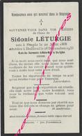 En 1933-Staple Et Bailleul (59) Sidonie LETURGIE Née 1868 - Décès