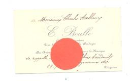 Carte De Visite De E Boulle Inspecteur Pour La Société Des Auteurs, Compositeurs,..1904  PERIGUEUX - EXCIDEUIL (fr81) - Cartes De Visite