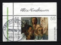 BUND Mi-Nr. 2432 Eckrandstück Links Oben Deutsche Malerei Des 20. Jahrhunderts Gestempelt - BRD