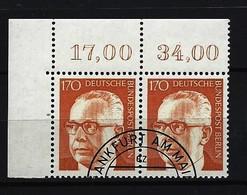 BERLIN - Mi-Nr. 432 Eckrandstück Links Oben Heinemann Gestempelt - Berlin (West)