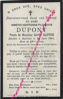 En 1904- Bailleul (59) Ismérie DUPONT Ep Liévin GANTOIS 69 Ans - Décès