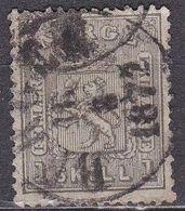 Norway 1867 Figures On Both Sides 1 Sk. Black Michel 11 - Gebruikt
