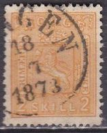 Norway 1867 Figures On Both Sides 2 Sk. Orange Michel 12 - Gebruikt
