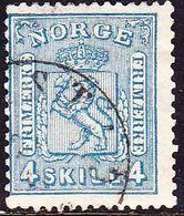 Norway 1867 4 Sk. Blue Y & T 14 - Gebruikt