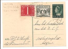 3 Emissies. Lebeau+Konijnenburg+v.Krimpen. Nieuweroord Dr. 10.1.47 - Periode 1891-1948 (Wilhelmina)