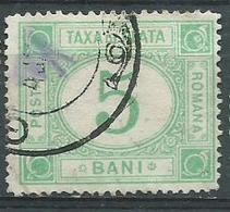 Timbre Roumanie Taxe 5b Vert 1890 Yvt N°16 - Dienstmarken