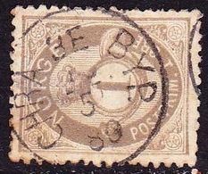 Norway Cancellation CHRA 3e BYP. On 1877 / 78 POSTFRIM 1 Ore Grey-olive Y & T 22 - Gebruikt