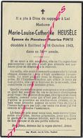 En 1943 -Bailleul (59) Marie Louise HEUSELE Ep Maurice Pinte- évocation De Jean, Prisonnier - Décès