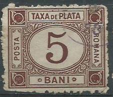 Timbre Roumanie Taxe 5b Brun 1891 - Dienstmarken