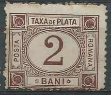 Timbre Roumanie Taxe 2b Brun 1891 Neuf - Service