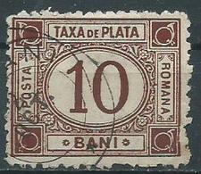 Timbre Roumanie Taxe 10b Brun 1891 Neuf - Service