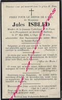 En 1910 -Ploegsteert Et Bailleul (59) Jules ISBLED Jeunesse Catholique Saint Vaast 19 Ans - Décès