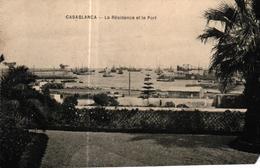 MAROC - CASABLANCA - LA RESIDENCE ET LE PORT - Casablanca