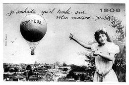 Cpa - Je Souhaite Qu'il Tombe Sur Votre Maison ( Le Bonheur) - 1906 - Bergeret - - Bergeret