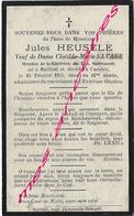 En 1915 -Bailleul Et Castre (59) Jules  HEUSELE Ep Clothilde SAVAGE 61 Ans- Confrérie - Décès