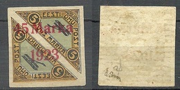 ESTLAND ESTONIA 1923 Michel 45 B I * Signed Brun - Estonie