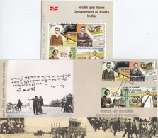 India 2007 Mahatma Gandhi  Centenary Of Satyagraha  4v  FDC + Plain Info Brochure   #  18139  D  Inde Indien - Mahatma Gandhi