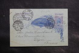 BRÉSIL - Entier Postal ( Pli Central) De Rio De Janeiro Pour La France En 1896 - L 34924 - Postwaardestukken