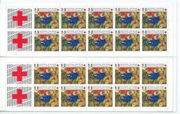 [17] Variété : Carnet N° 2036 Croix-rouge 1987 N° 2498a Tableau Doublé + Normal ** - Abarten: Markenheftchen