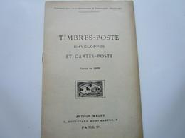 TIMBRES-POSTE, ENVELOPPES Et CARTES-POSTE Parus En 1909 (32 Pages) - Otros