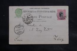 BRÉSIL - Entier Postal De Sao Paulo Pour La Suisse En 1903 - L 34927 - Postwaardestukken