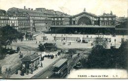 N°74168 -cpa Paris -gare De L'Est- - Bahnhöfe Ohne Züge