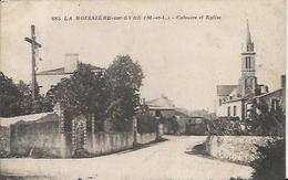 Carte Postale Ancienne De La Boissière Sur Evre Le Calvaire Et L'eglise - France