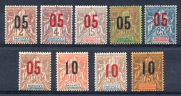 DAHOMEY - YT N° 33 à 42 - Neufs * - MH - Cote: 25,00 € - Dahomey (1899-1944)