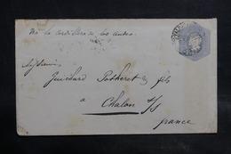 CHILI - Entier Postal De Valparaiso Pour La France En 1896 Par Voie Des Andes - L 34930 - Chile