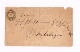 Entier Postal à 5 Centimes.Expédié De Wallenstadt à Unterterzen. - Entiers Postaux